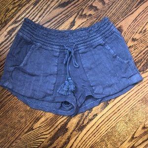 Roxy Navy Flowy Shorts